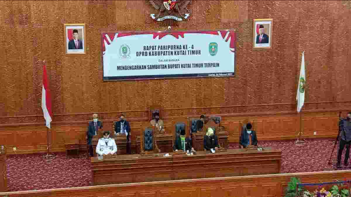 DPRD Kutim Gelar Sidang Paripurna, Dengar Sambutan Bupati Terpilih