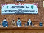 DPRD Kutim Gelar Paripurna Ke 23 Panyampaian Pandangan Umum Fraksi Fraksi Dewan Terkait Pelaksanaan APBD TA 2020